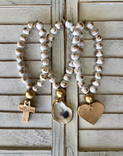 Petite White Blessing Beads - Cross