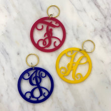 Single Initial Keychain