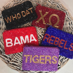 Game Day Beaded Coin Purse