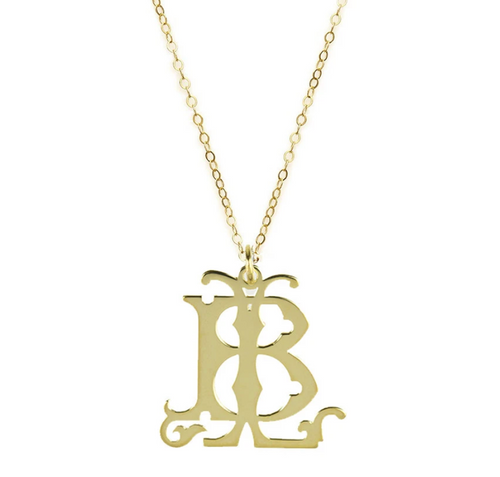 Two Letter Lola Monogram Necklace