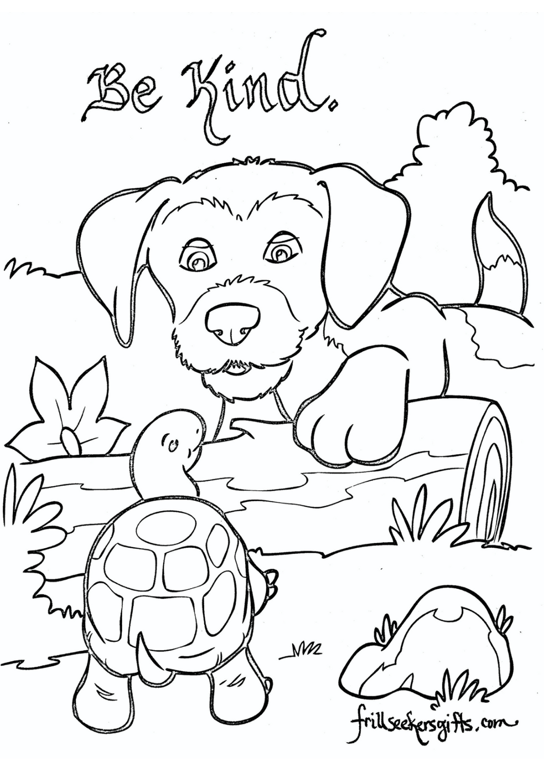 Be Kind Coloring Sheet