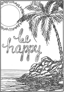 Be Happy Coloring Sheet