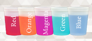 Color Changing Stadium Cups - 16oz.