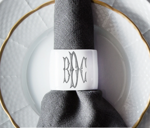 Nicholas Napkins Ring - Personalized