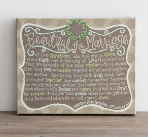 Beautiful Marriage Canvas