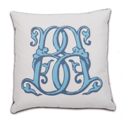 Letter Luggage - Velvet Back Pillow