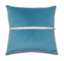 Letter Luggage - Monogrammed Velvet Back Pillow