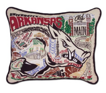 Arkansas Hand-Embroidered Pillow