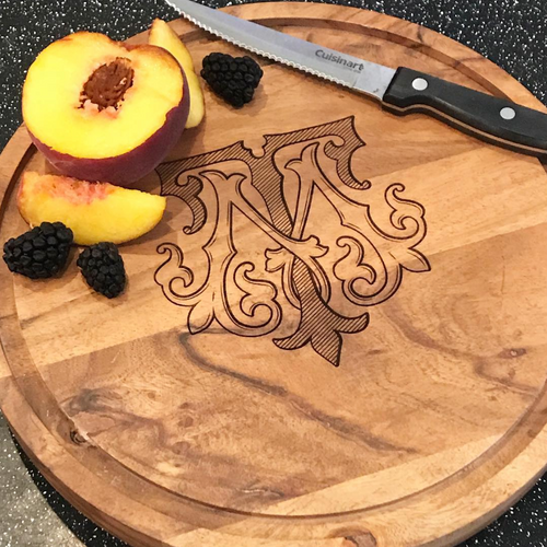 Round Serving Cutting Charcuterie Board