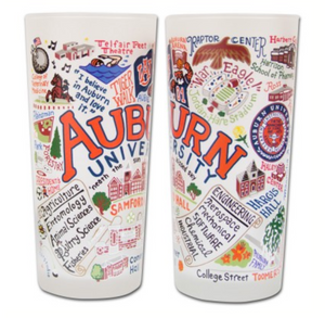 Auburn Game Day Glasses - Set of 4