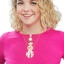 Hampton Handcut Circle Monogram Necklace