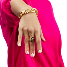 Boyfriend Signet Monogram Ring