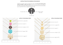 Hampton Handcut Monogram Post Earrings