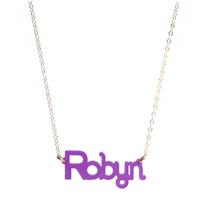 Acrylic Zebra Nameplate Necklace