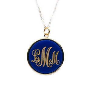 Vineyard Round Monogram Necklace