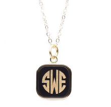 Vineyard Square Monogram Necklace