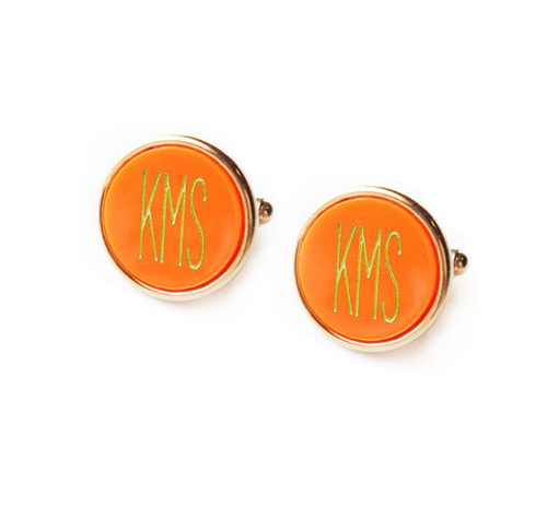 Vineyard Monogram Cuff Links with Modern Font