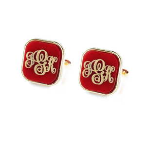 Vineyard Square Monogram Cuff Links