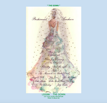 """The Gown"" Wedding Dress Bridal Invitation"
