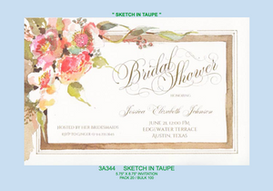 """Sketch In Taupe"" Invitation"