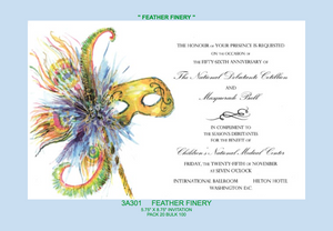 """Feather Finery"" Invitation"