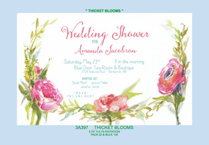 """Thicket Bloom"" Invitation"