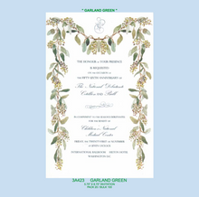 """Garland Green"" Invitation"