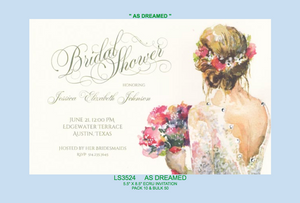 """As Dreamed"" Invitation"