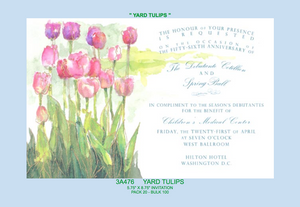 """Yard Tulips"" Invitation"