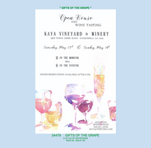 """Gifts of The Grape"" Invitation"