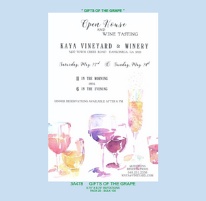 """Gifts of The Grape"" Party Invitation"