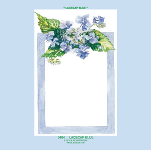 """Lacecap Blue"" Floral Invitation"