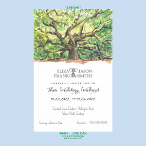 """Live Oak"" Invitation"