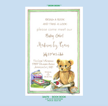 """Book Book"" Invitation - Baby"