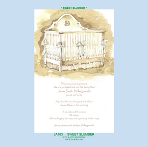 """Sweet Slumber"" Invitation - Baby"