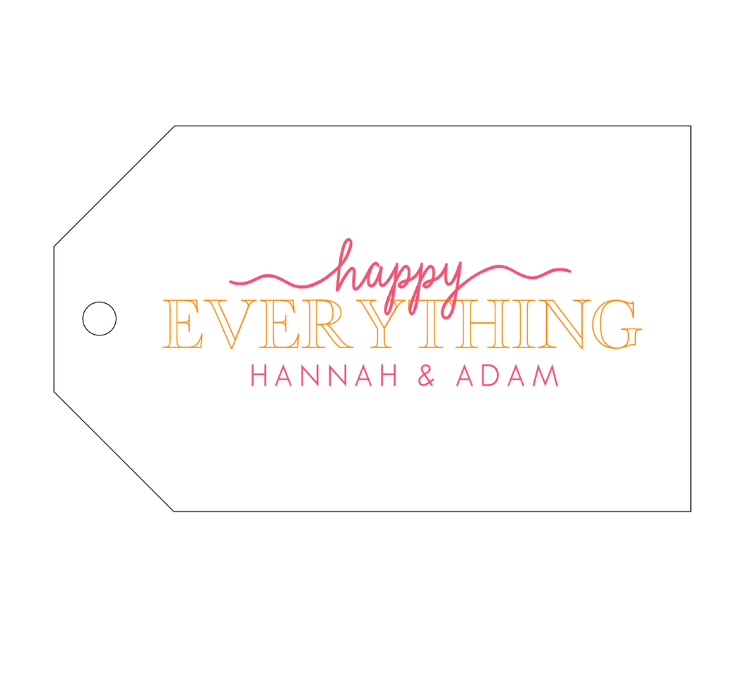 Happy Everything Personalized Gift Tag - T238