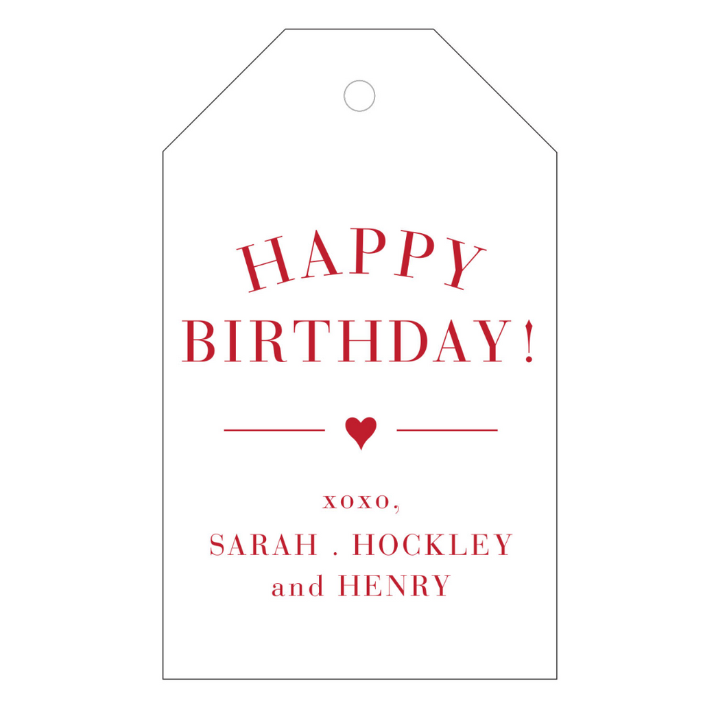 Happy Birthday Personalized Gift Tag - T25