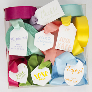 His, Hers & Ours Personalized Gift Tag - T207
