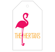 Flamingo Personalized Gift Tag - T24