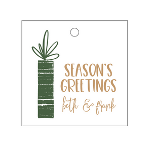 Personalized Holiday Gift Tag - T280