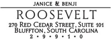Roosevelt Couples Names Rectangle Self-Inking Stamper or Hand Stamp