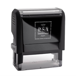 McDonald Family Name and Initial Rectangle Self-Inking Stamper or Hand Stamp