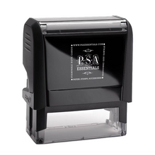 Angela Return Address Rectangle Self-Inking Stamper or Hand Stamp