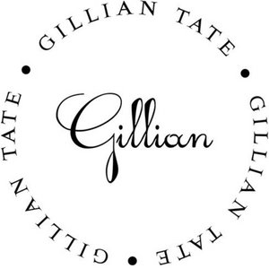 Gillian Family Name Round Self-Inking Stamper or Embosser