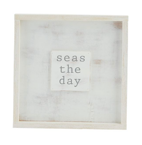 Seas The Day Wooden Plaque