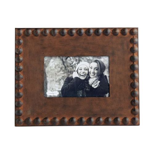 Small Rustic Nailhead Tin Picture Frame