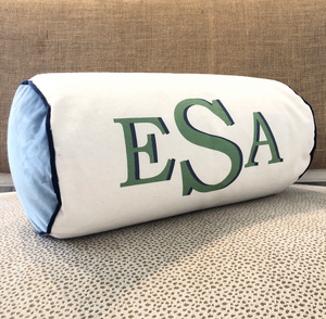 Letter Luggage - Bolster Pillow