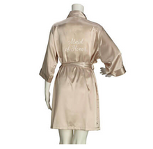 Satin Maid Of Honor Robe
