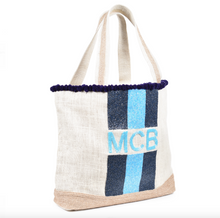Full of Frill Custom Monogram Beaded PomPom Tote