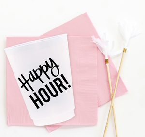 Happy Hour Cups - Set of 10, 16oz.